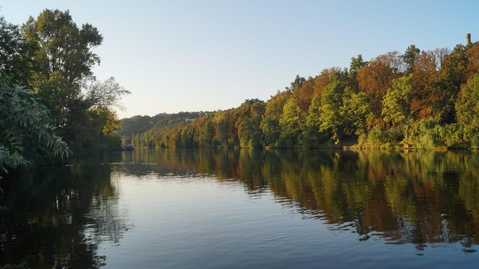 Moldau unterhalb der Mündung der Rokytka   Foto:  Radio Prague International