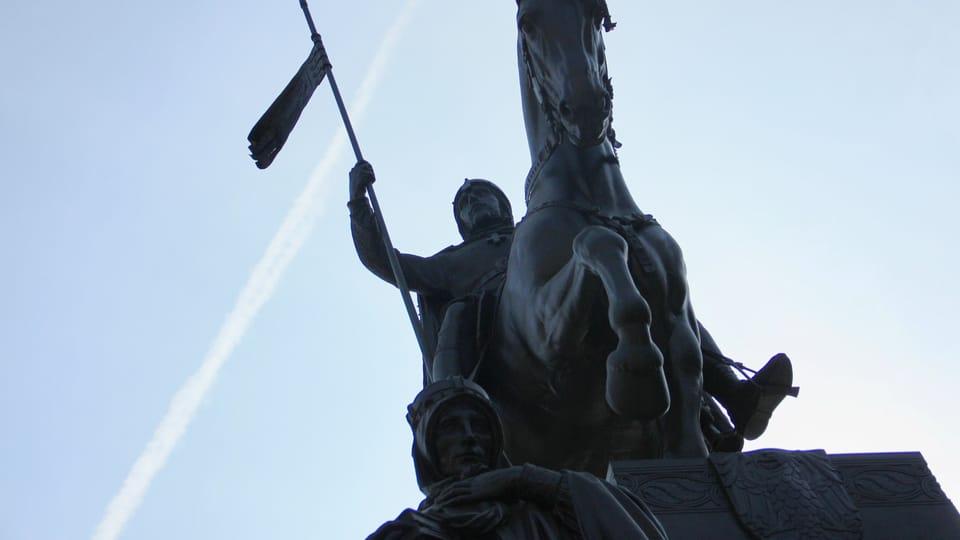 Sankt-Wenzels-Denkmal auf dem Wenzelsplatz von Bildhauer Josef Václav Myslbek  (Foto: Barbora Němcová)