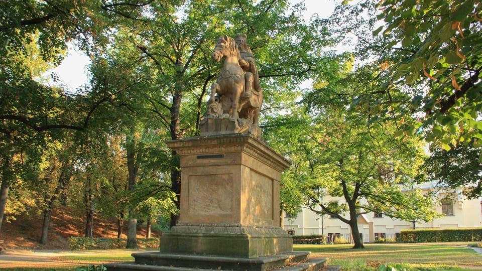 Reiterstatue des Fürsten Wenzel auf dem Vyšehrad  (Foto: Barbora Němcová)