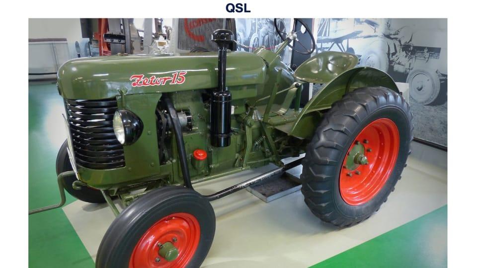 Traktor Zetor 15 mit dem 1-Zylinder-Dieselmotor,  Produktionszeitraum: 1946–1949. Foto: Archiv des Tschechischen Rundfunks - Radio Prague International