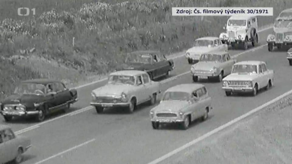 Verkehr auf der Autobahn D1   Foto: Tschechisches Fernsehen