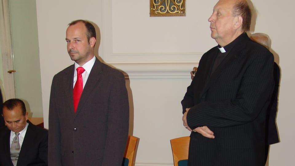 Lukáš Curylo und Pavel Posád  (Charita Česká Republika). Foto: Archiv Radio Prag