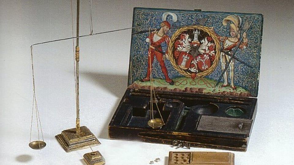 Goldwaage des Kuttenberger Münzmeisters Hans Harsdorfer