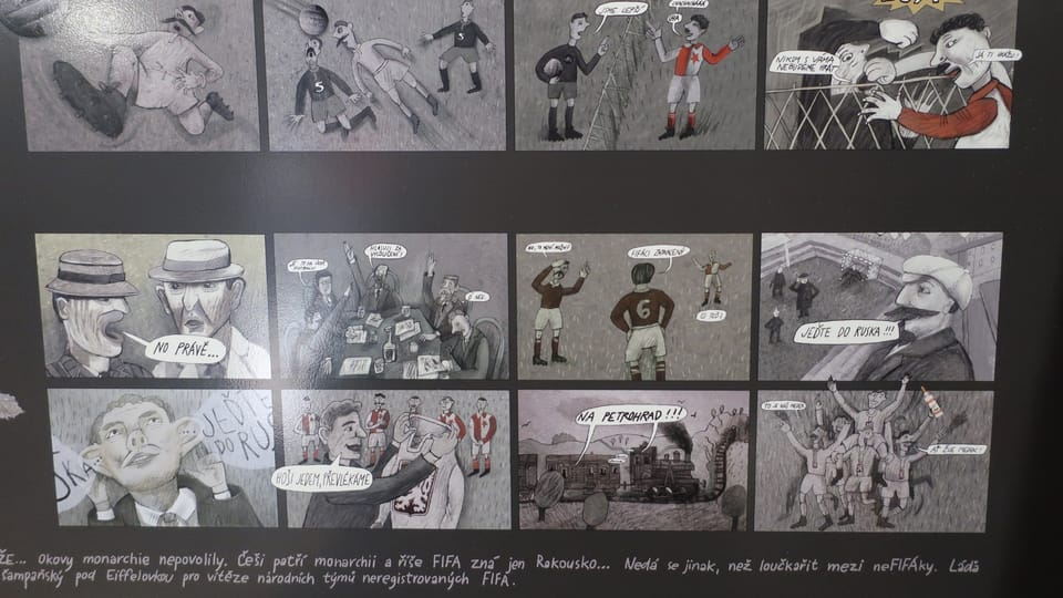 """Ausstellung """"Fußball im Jahrhundert der Fouls""""  (Foto: Martina Schneibergová)"""