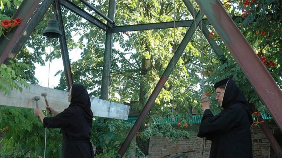 Nonnen im Glockenturm von Govora  (Foto: Jana Šustová)