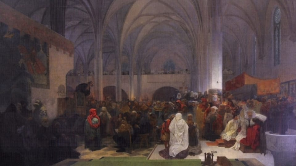 Jan Hus predigt in der Bethlehem Kapelle