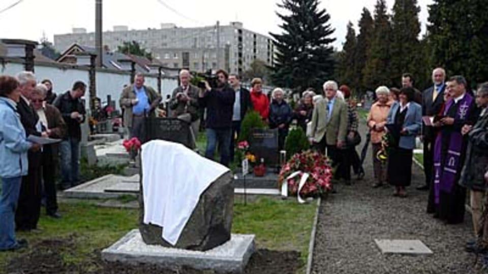 Denkmalenthüllung in Krnov/Jägerndorf