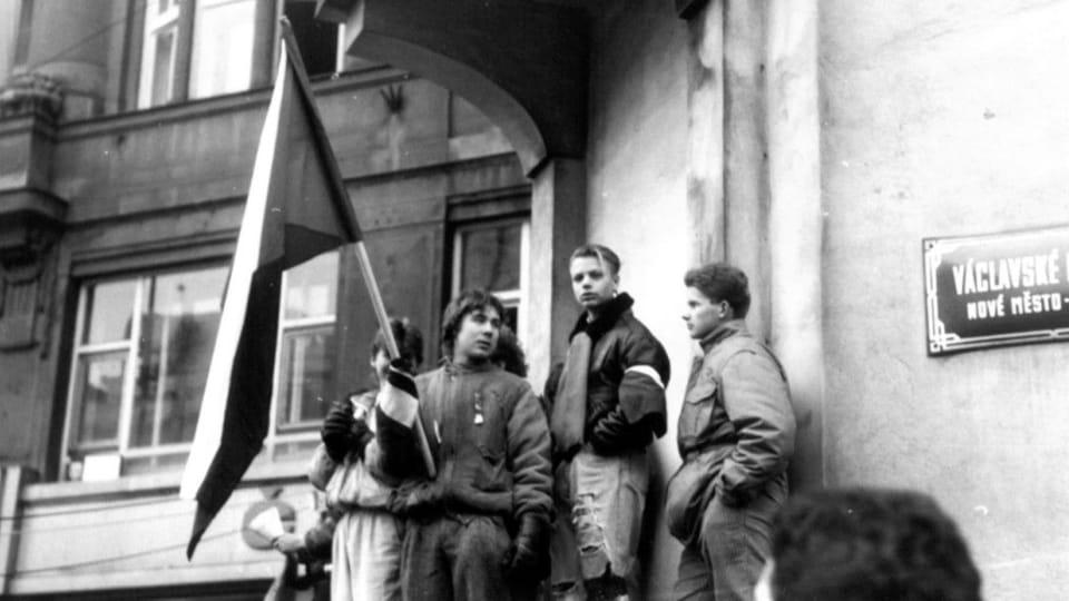 Wenzelsplatz 1989  (Foto: Bedřich Kaas,  Archiv des Tschechischen Rundfunks)
