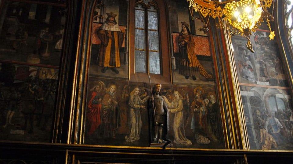Die älteste freistehende Plastik des heiligen Wenzels befindet sich im Prager Veitsdom  (Foto: Eva Turečková)