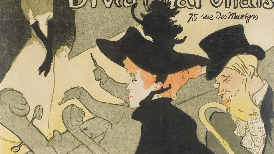 Henri de Toulouse-Lautrec: Divan Japonais  (Foto: Archiv des Kunstgewerbemuseums Prag)