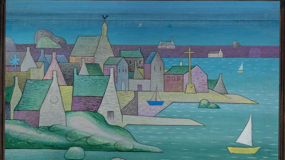 Jan Zrzavý: Hafen in der Bretagne  (Foto: Archiv der Nationalgalerie in Prag)