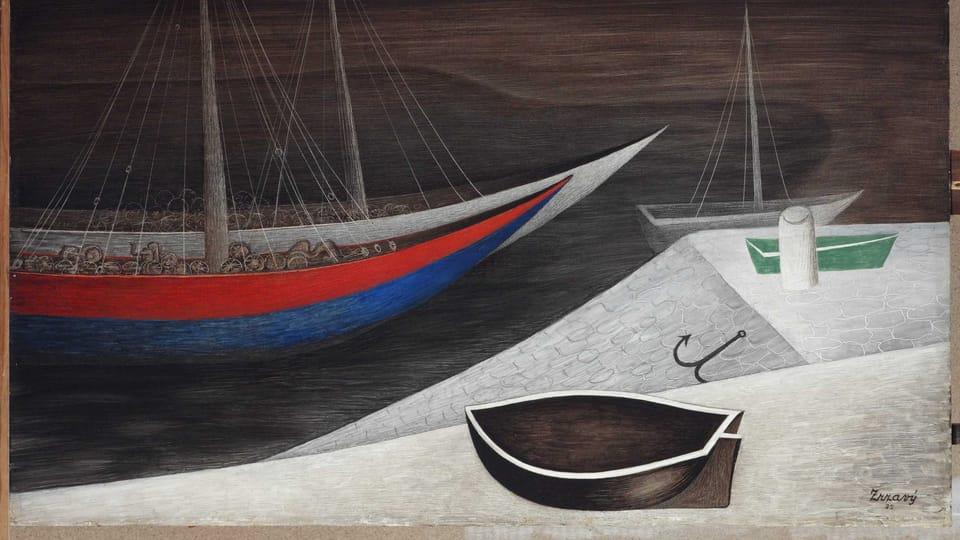 Jan Zrzavý: Schlafende Schiffe  (Foto: Archiv der Nationalgalerie in Prag)