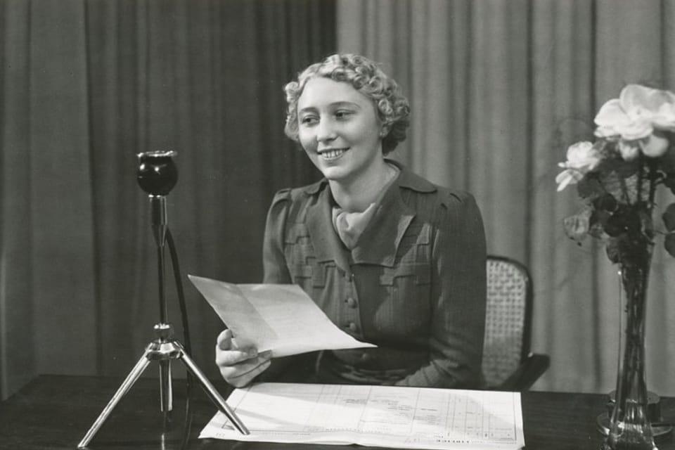 Ansagerin Helena Krouská | Foto: Archiv des Tschechischen Rundfunks